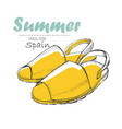 drawing sandal from spain with vector image vector image
