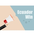 Ecuador win Flat design business vector image vector image