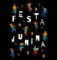 festa junina template vector image vector image