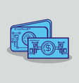 financial technology set icons vector image vector image
