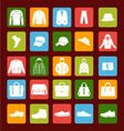 flat men set mens clothes and accessories icons vector image vector image