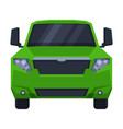 front view off green road truck suv pickup car vector image