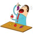 Fruitarian vector image