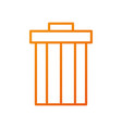 garbage trash can file contains objects web vector image vector image