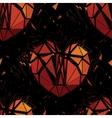 Geometric 3d Broken heart vector image