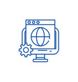global seo line icon concept global seo flat vector image vector image