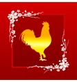 golden rooster symbol chinese new year 2017 vector image