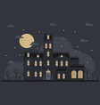 halloween with spooky gothic house vector image