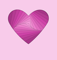 hand-made paper folding heart isolated on violet vector image vector image