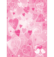 Heart valentines day background vector image vector image