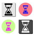 hourglass flat icon vector image