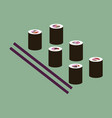 icon in flat design for restaurant sushi and vector image