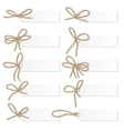 Label set with rope bows vector image vector image