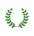 laurel wreath symbol vector image vector image