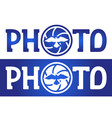 lettering photo with bird in the shutter vector image