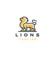 line art lion logo design template vector image vector image