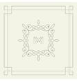 M monogram Frame template vector image