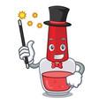 magician nail polish mascot cartoon vector image