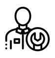 mechanic wrench icon outline vector image vector image