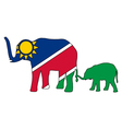 Namibia elephants vector image