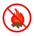 No fire sign in red ring vector image vector image