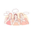 online communication correspondence message app vector image
