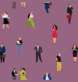 people seamless pattern vector image vector image