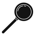 policeman magnifier icon simple style vector image vector image