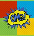 pop art omg logo vector image vector image