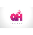 qh g h letter logo with pink purple color vector image vector image
