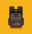 schoolbag flat bag for school vector image vector image