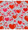 Seamless ornament with hearts and swirls vector image vector image
