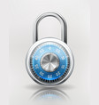 security concept with combination padlock vector image vector image