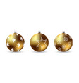set 3d christmas balls with winter ornament vector image vector image