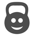 smiled ton weight flat icon vector image