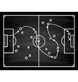 soccer game tactical scheme vector image vector image