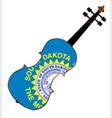 south dakota state fiddle vector image vector image