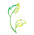 stylized silhouette of spring green tree leaf vector image vector image