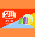 summer sale flat design poster selling ad banner vector image