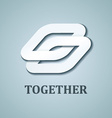 together white paper icon design template vector image vector image