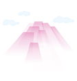 transparent pink air skyscrapers in the clouds vector image vector image