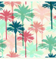 tropical seamless pattern with palms vector image