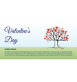 valentines day background with tree hearts vector image