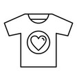 volunteer tshirt icon outline style vector image