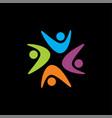 webstar shape logo community logo human logo vector image vector image