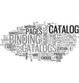 why choose a catalog text word cloud concept vector image vector image