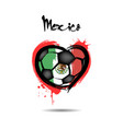 4440 - russia heart soccer vector image