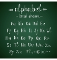 Alphabet and punctuation chalkboard vector image vector image