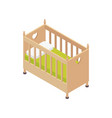 baby bed isometric composition