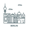 berlin line icon berlin outline sign vector image vector image